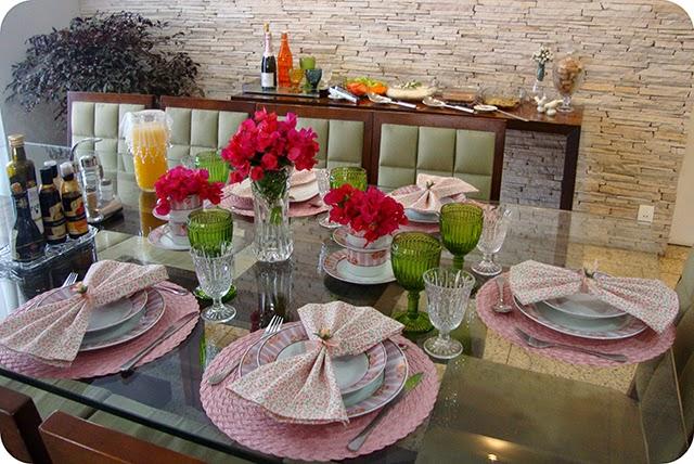 Decoração Rosa para Almoço