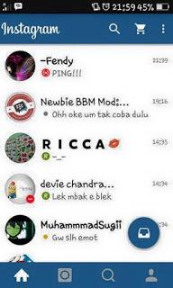BBM Instagram v1 Base v2.12.0.11 Apk Terbaru