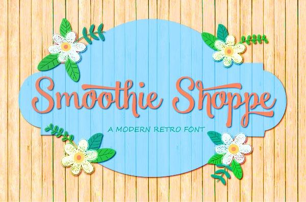 20 Script Font Terbaik 2016 - Smoothie Shoppe Free Script Font