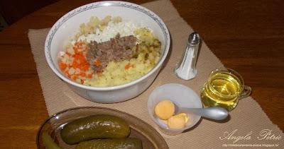 Preparare salata de boeuf 1