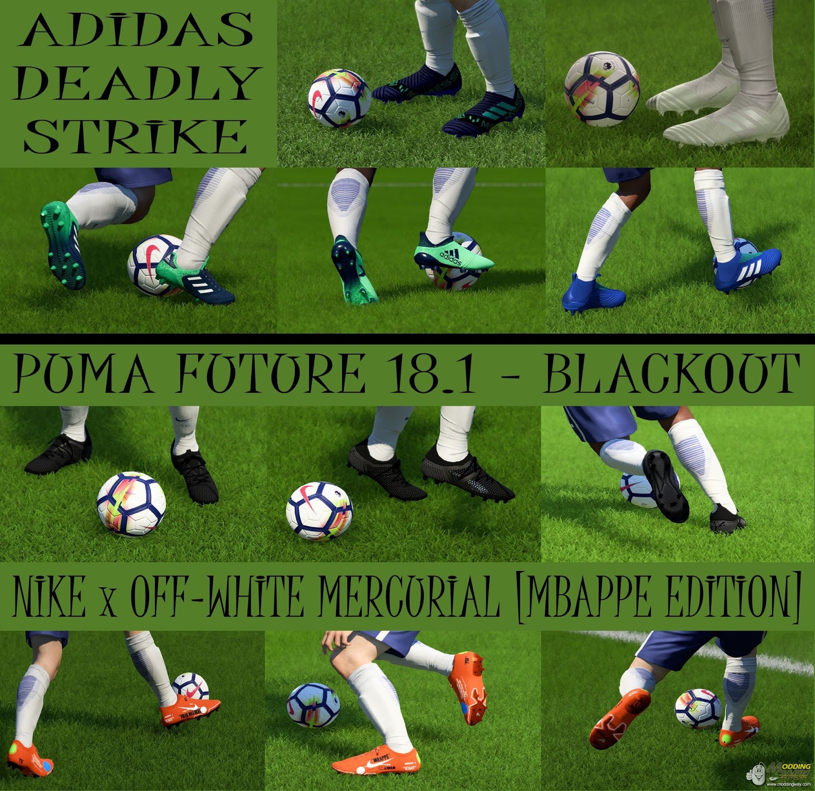 various colors cf410 910b7 FIFA 18 Bootpack v3.2 by Nick BlueLion