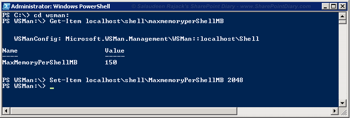"PowerShell ""Exception of type 'System.OutOfMemoryException'"""