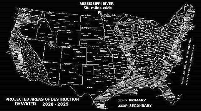 Time Traveler Reveals Map of the United States After Catastrophes ...