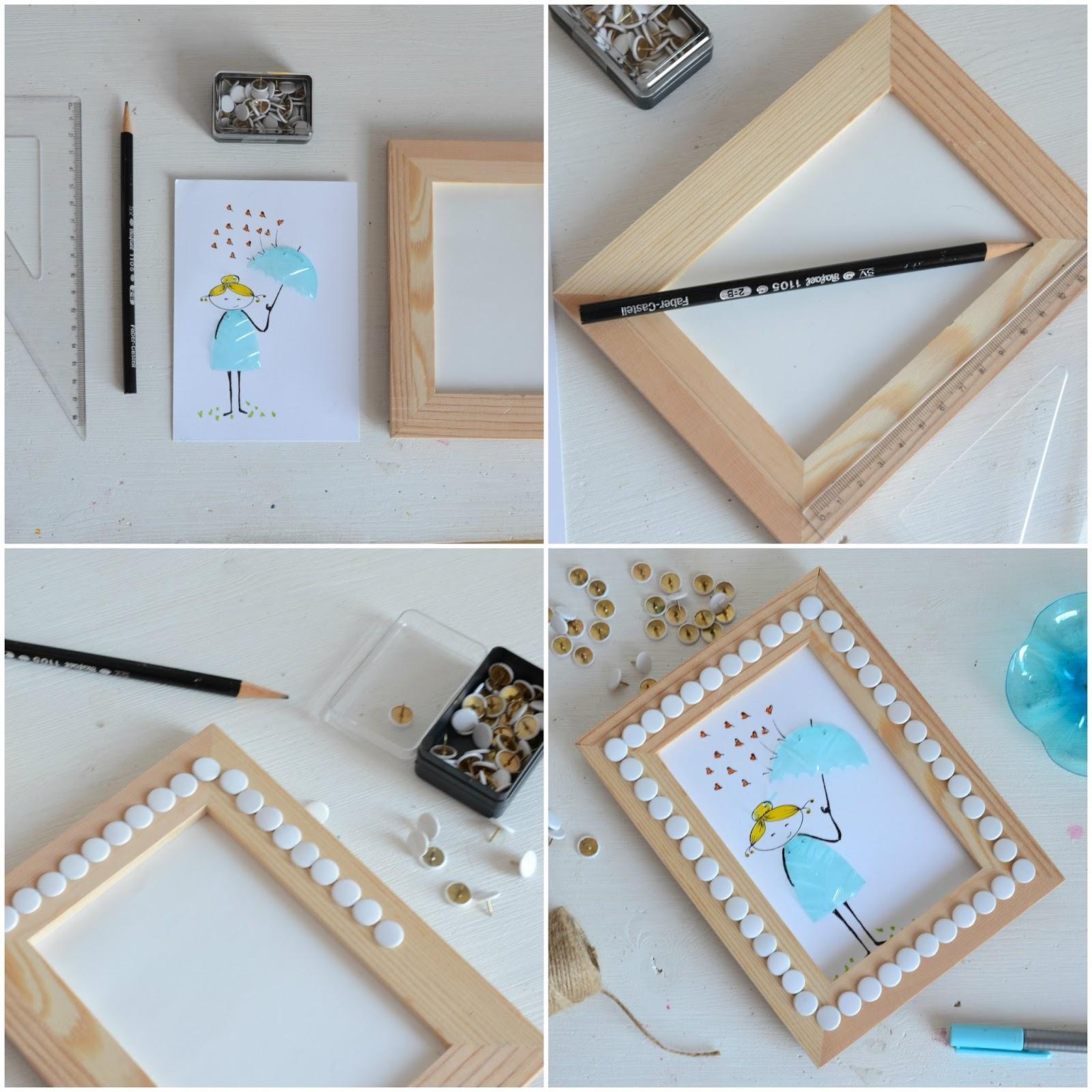 Linfa creativa come decorare una cornice di legno for Una cornice di case