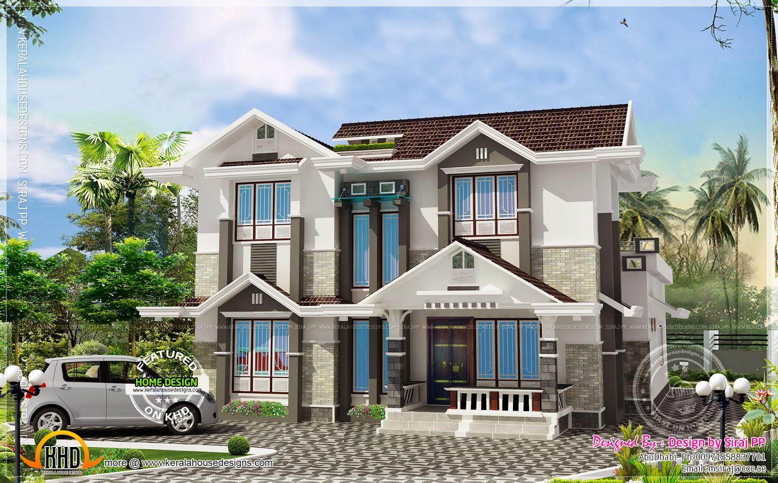 239 square yards exterior of a modern home home kerala plans for Modern house 48