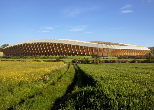 Tinuku.com Zaha Hadid Architects build football stadium made of wood for English football club Forest Green Rovers