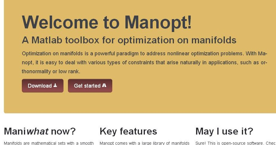 Nuit Blanche: Manopt 2 0: A Matlab toolbox for optimization
