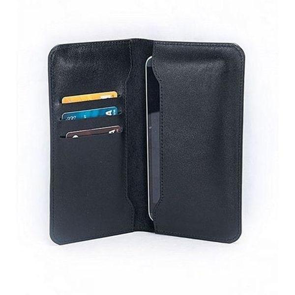 Black Leather Mobile Wallet for Men