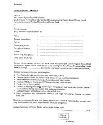 Contoh Surat Lamaran Cpns Kemenristekdikti : contoh, surat, lamaran, kemenristekdikti, Contoh, Surat, Lamaran, Untuk, Pendaftar, Khusus
