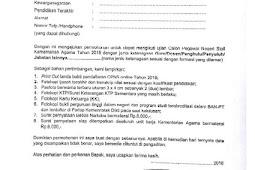 Contoh Surat Lamaran CPNS 2018 untuk Pendaftar Umum dan Khusus