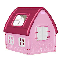 Maisonnette Fairy House fille (coloris rose et blanc)