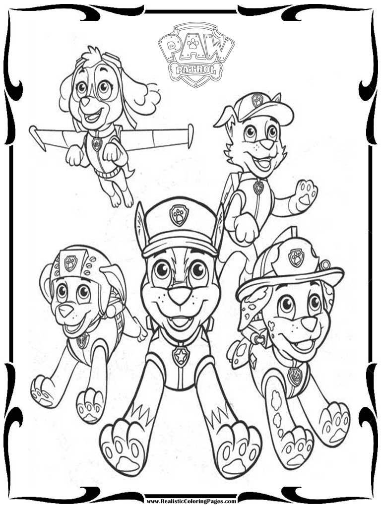Printable Coloring Pages Of Paw Patrol : Free paw patrol coloring pages to print realistic