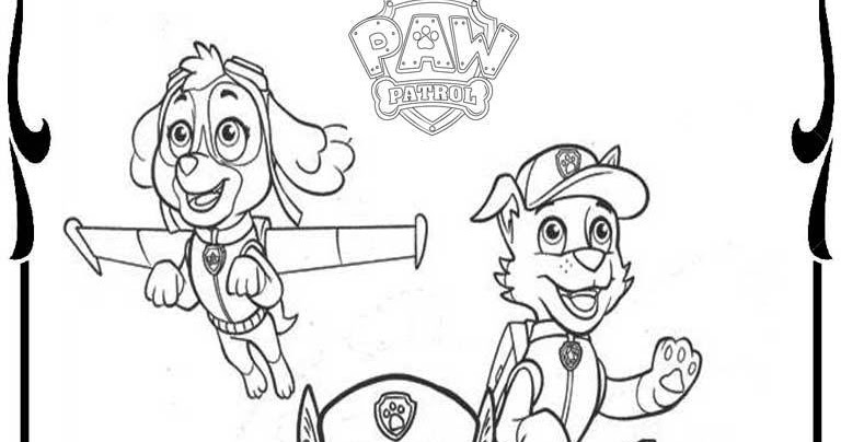Small Paw Patrol Coloring Pages : Free paw patrol coloring pages to print realistic