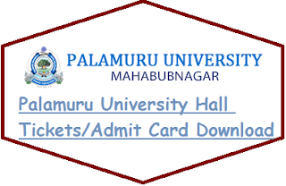 Palamuru University Hall Tickets Download 2020