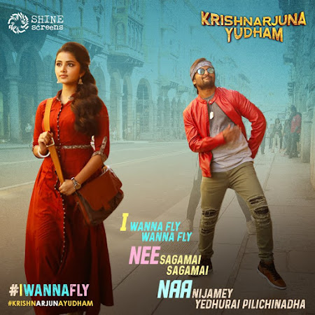 Poster Of Krishnarjuna Yudham In Dual Audio Hindi Telugu 300MB Compressed Small Size Pc Movie Free Download Only At worldfree4u.com