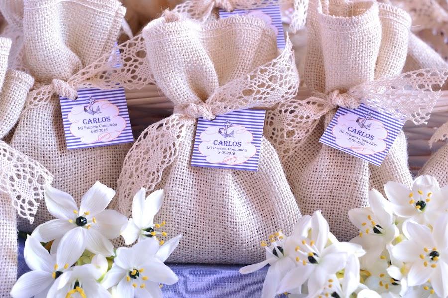 Detalles para comunion marinera saquitos perfumados bolsitas de olor