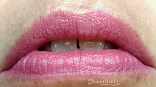 Lip swatch of Taffy Silk Cream lipstick by MAKE beauty