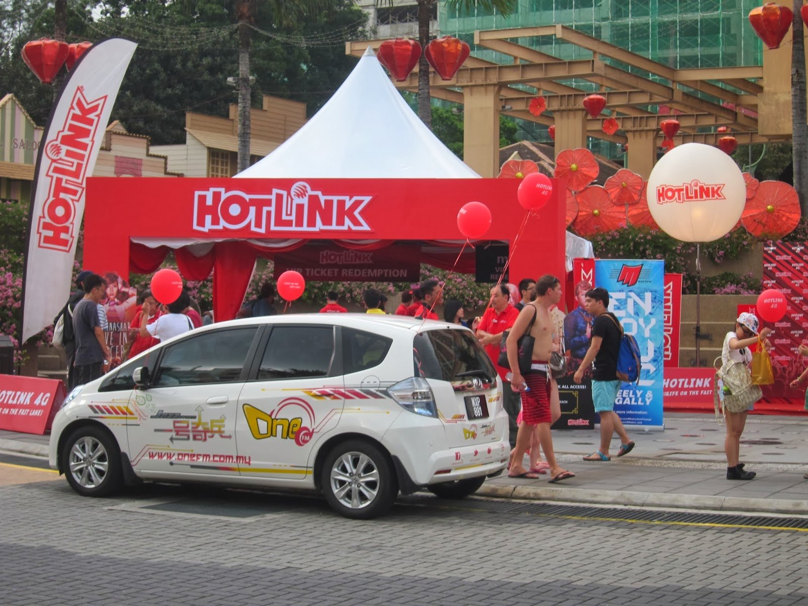 Hotlink 4G (Live in concert) Booth @Sunway Lagoon