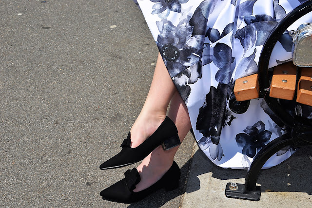 blogerka czarne buty