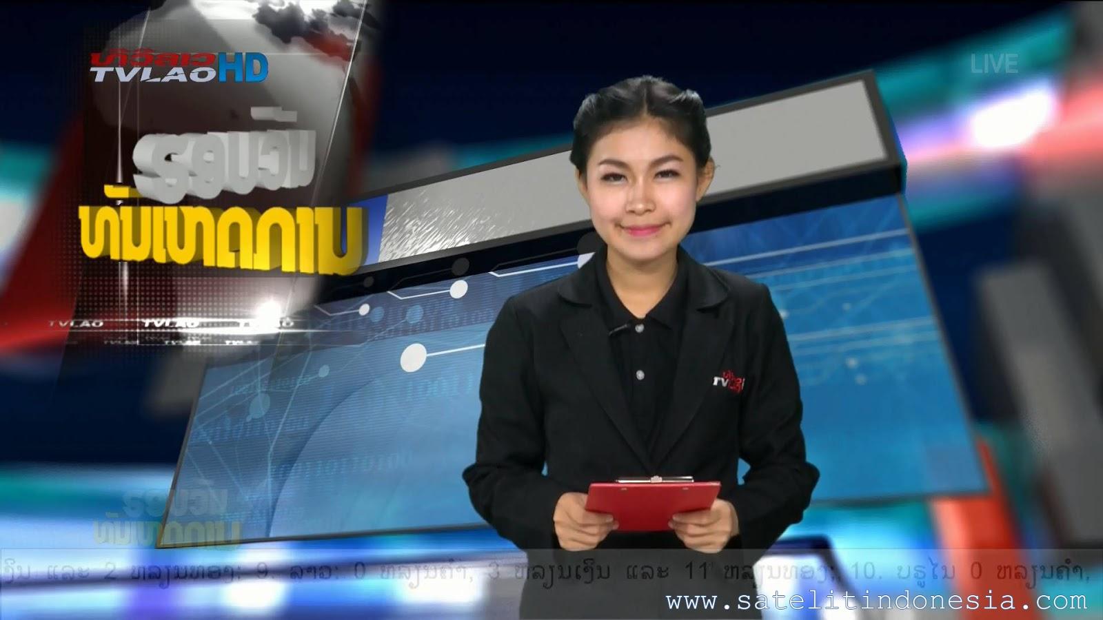 Frekuensi siaran TVLAO HD di satelit Thaicom 5 Terbaru