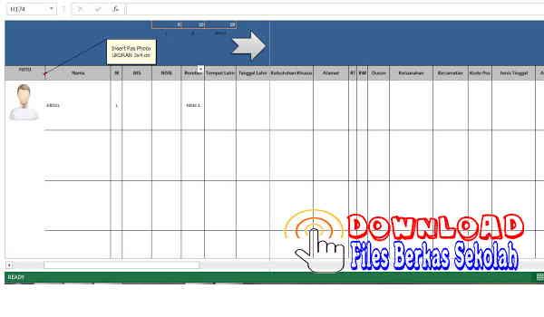 Download Buku Induk Siswa Otomatis Terbaru Full Version Format Excel Gratis dan Lengkap