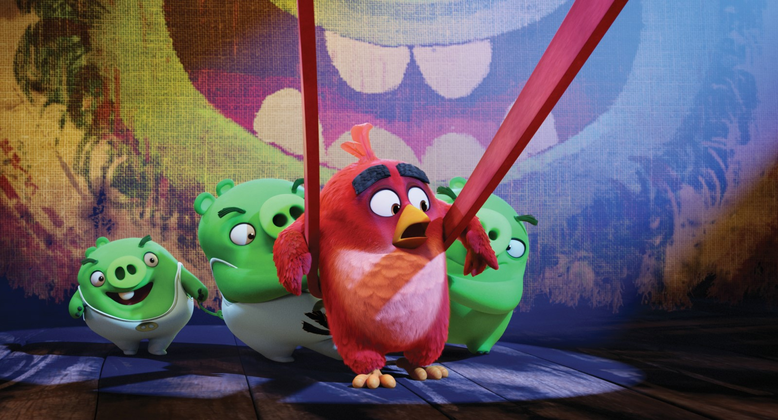 Red y los cerdos de Angry Birds