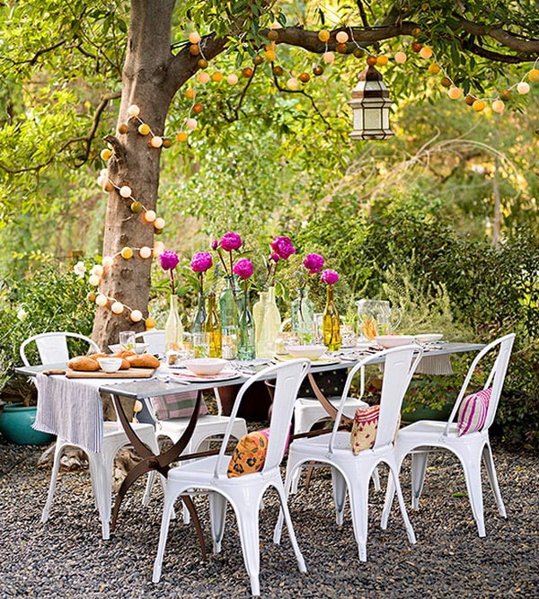 Ideas For Decorating Outdoor Dining Room Tables 4