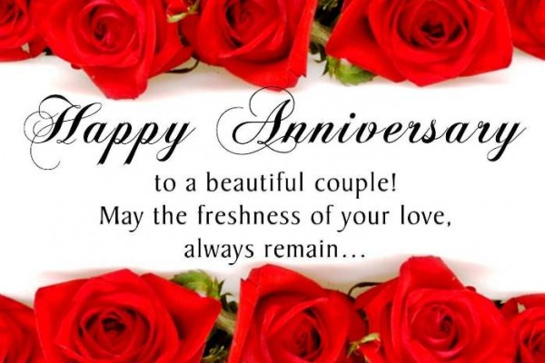 Happy wedding anniversary messages wishes for couple with image happy wedding anniversary wishes messages for couple 1 m4hsunfo Images