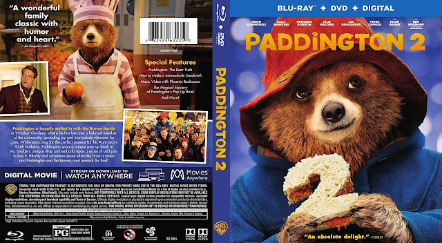 Paddington 2 Bluray Cover