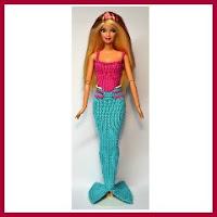 Barbie sirena en punto
