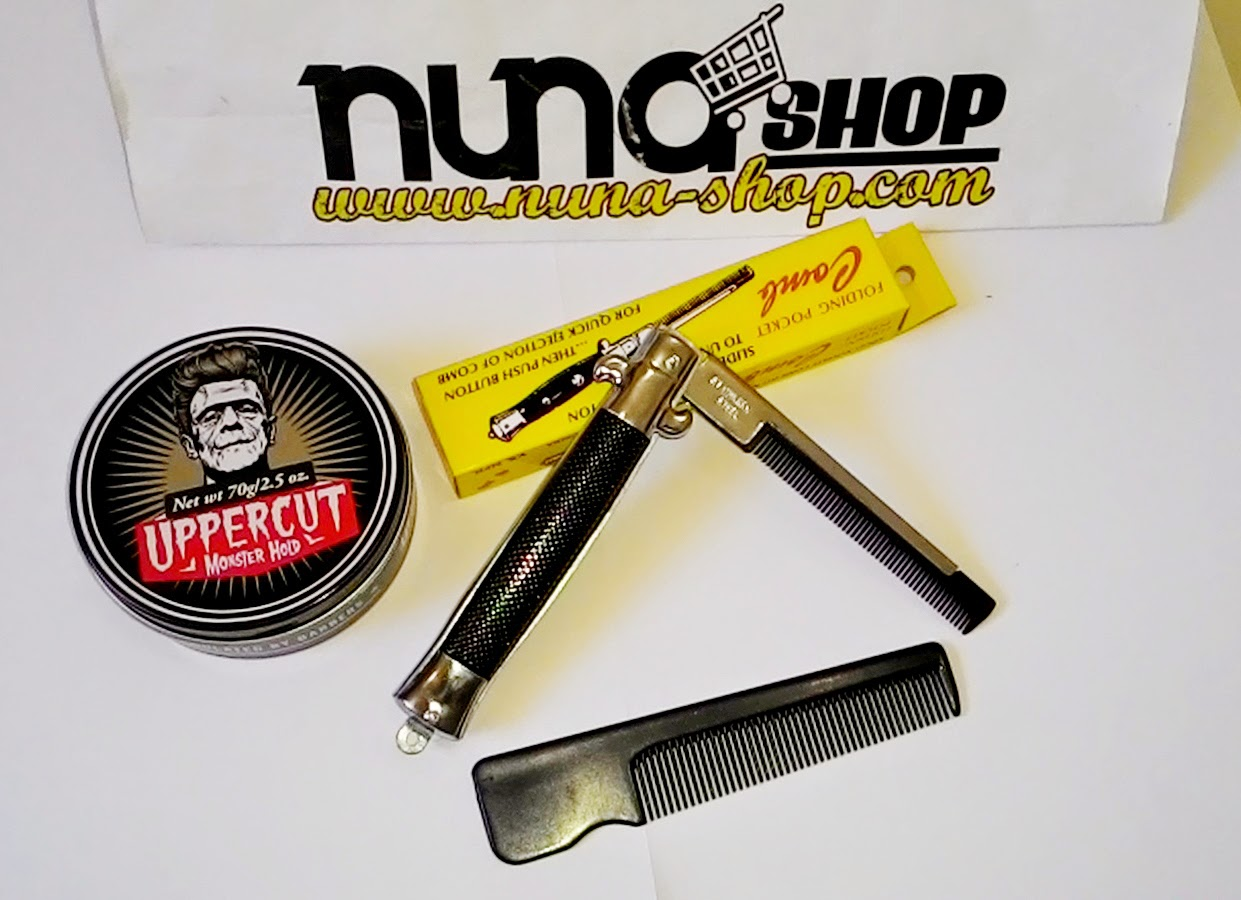 Paket Hemat Pomade Uppercut  Monster Hold + Switchblade Comb