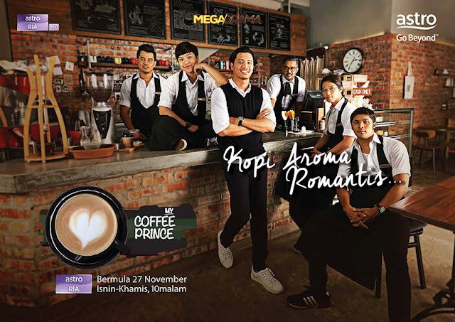 Drama My Coffee Prince Lakonan : Fattah Amin, Janna Nick, Fahrin Ahmad,