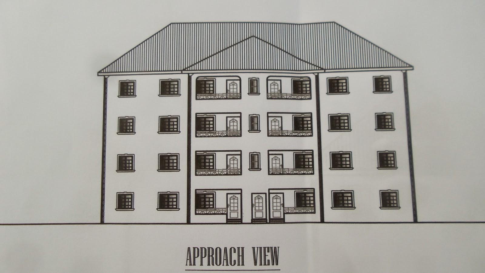 Building plans for 3 bedroom flats in nigeria