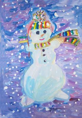 """рисунок Насти """"Волшебный снегопад"""""""