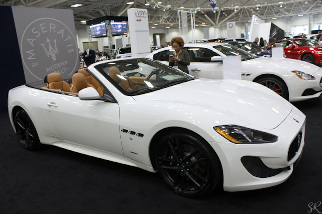 White Maserati at the Twin Cities Auto show
