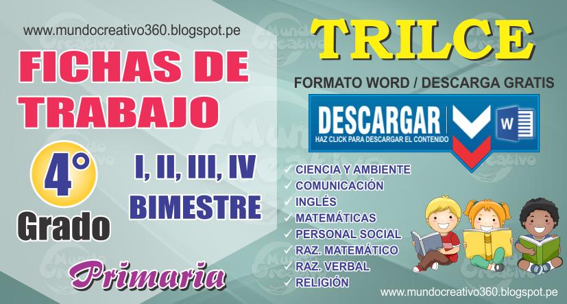 FICHAS DE TRABAJO TRILCE 4to. GRADO - Mundo creativo360