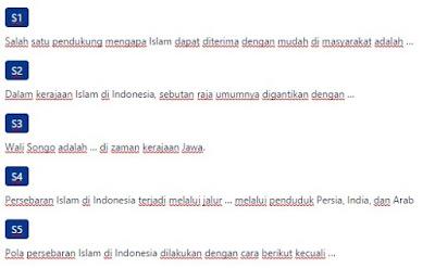 Contoh Soal Sistem pemerintahan, sosial, ekonomi, dan kebudayaan masyarakat Indonesia pada masa kerajaan-kerajaan besar Islam di Indonesia yang berpengaruh pada kehidupan masyarakat Indonesia masa kini