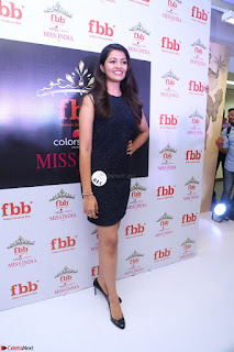 Model Shreya Kamavarapu in Short Black Dress at FBB Miss India 2017 finalists 064.JPG