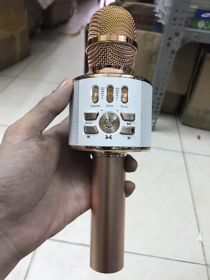 Micro bluetooth karaoke W12 kết nối được 1 điện thoại với 2 micro hát song ca giá sỉ và lẻ rẻ nhất