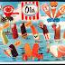 ... deste cartaz de gelados da Olá de 1980