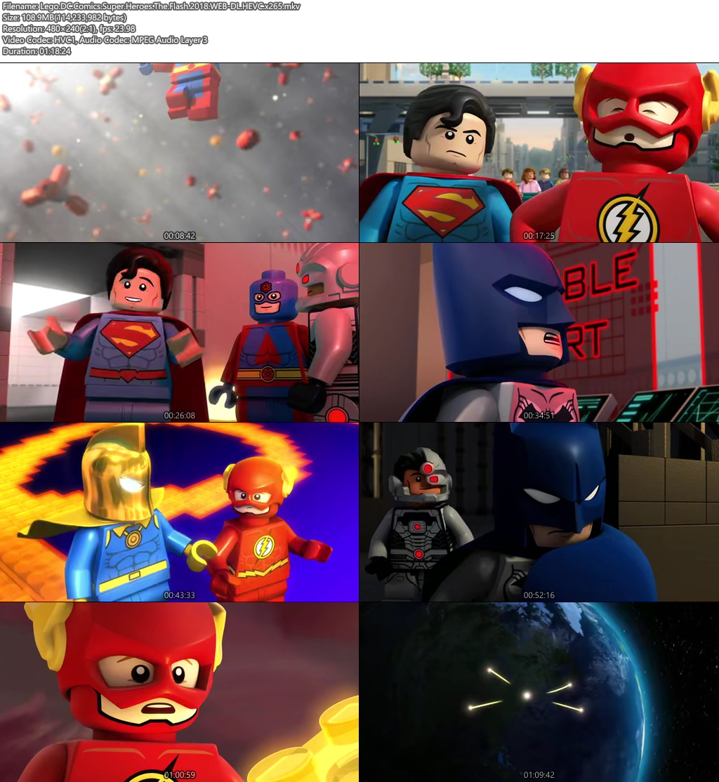 Lego DC Comics Super Heroes The Flash 2018 100MB WEB-DL HEVC