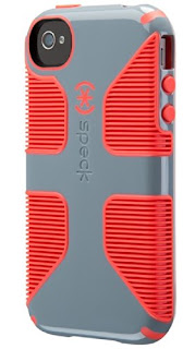 Speck Products CandyShell Grip Case for iPhone 4/4S - Nickel Grey/Warning