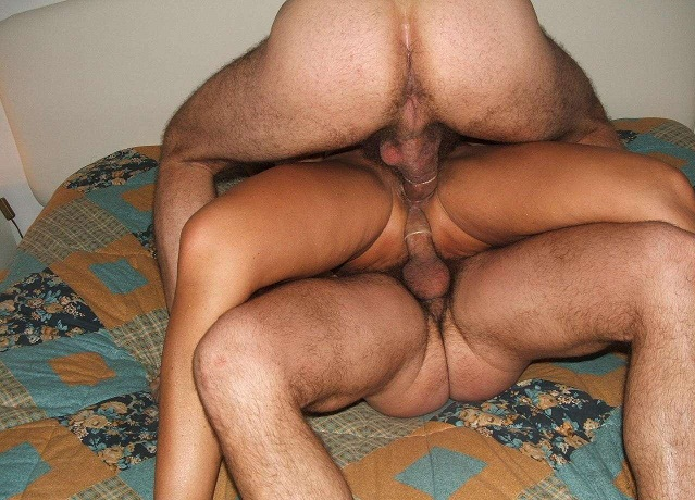 Gay massage in front of wife