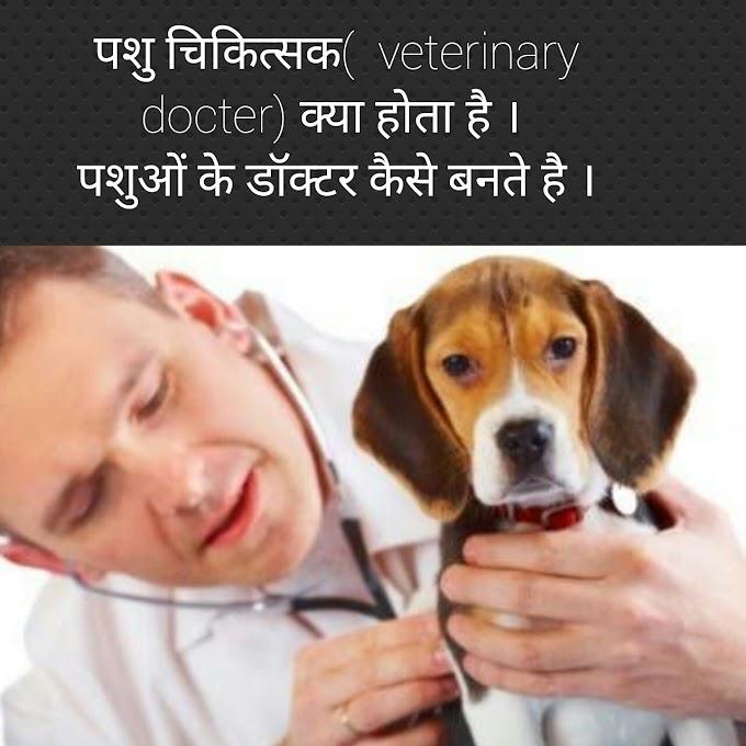 पशुओं का डॉक्टर कैसे बने। ( how to become a veterinary Doctor)