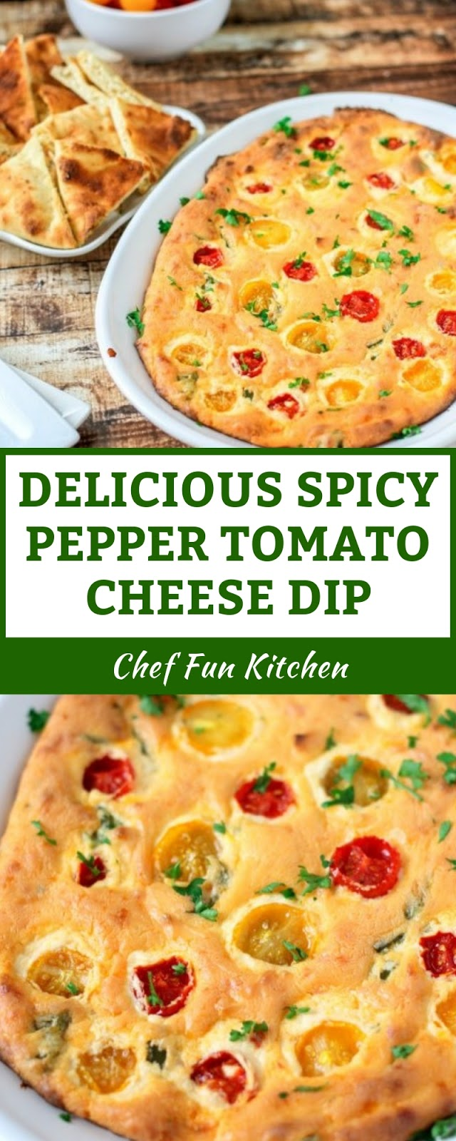 DELICIOUS SPICY PEPPER TOMATO CHEESE DIP