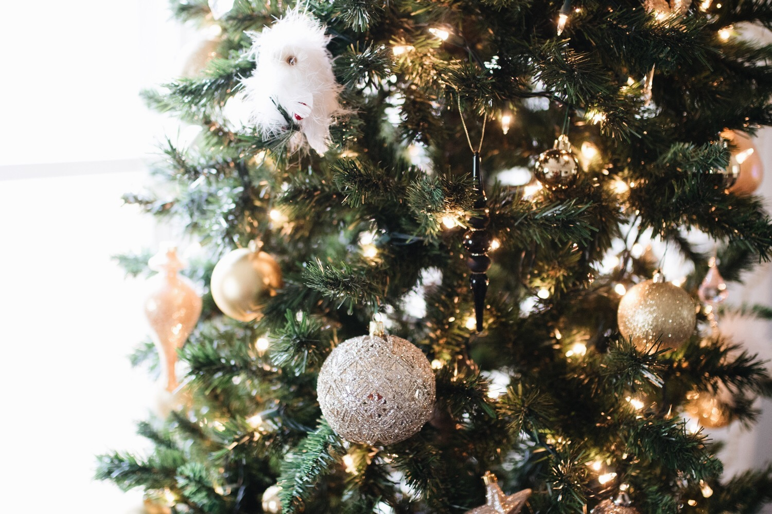 neutral tree ornaments