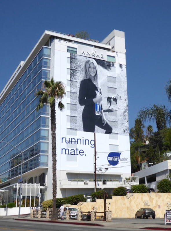 Jennifer Aniston Smartwater Running mate billboard