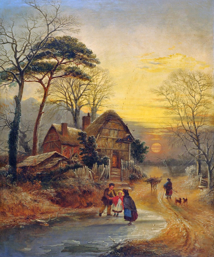 American Paint And Wallpaper Fall River Victorian British Painting George Augustus Williams