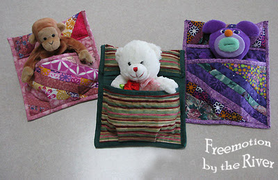 Doll sleeping bag tutorial at Freemotion by the River
