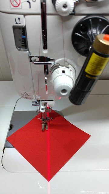 Use a laser to sew HSTs